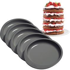 Amazon.com: Wilton 2105-0112 Easy Layers! 5-Piece Cake Pan Set, 6-Inch: Kitchen & Dining