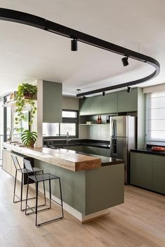 Kitchen Room Design, Kitchen Dinning, Kitchen Cabinet Design, Kitchen Sets, Modern Kitchen Design, Home Decor Kitchen, Interior Design Kitchen, Kitchen Furniture, Home Kitchens