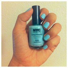 NYC nail polish in Skyline Blue