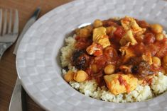 Plats Weight Watchers, Le Diner, Chana Masala, Pork, Nutrition, Portion, Ethnic Recipes, Sweet, Voici