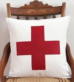 Classic Swiss Army cross pillow $38