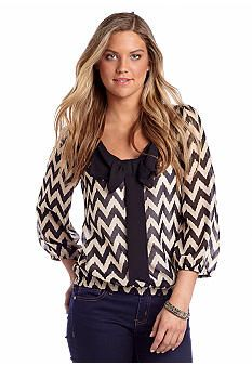 A Byer Chevron Bow Front Top