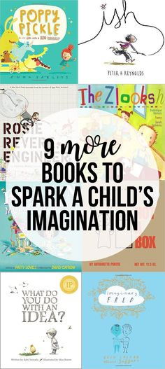 More Books with Great Imagination to Spark Your Child's Imagination Picture books that spark imagination! Nine books with characters with great imagination that will help spark imagination in your children.Help Help may refer to: Kids Reading, Teaching Reading, Reading Books, Reading Lists, Reggio, Kids Laughing, Preschool Books, Preschool Ideas, Preschool Classroom