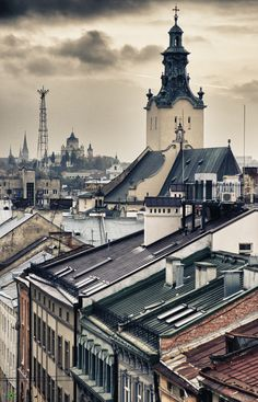 Rooftops of Lviv | Ukraine. this is my perfect town. I invite all to come and see...