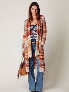 I bought this Fairisle Cardigan by Free People at Christmas. I love the oatmeal and orange colors