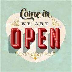 "Pro-Art gla927a Wandbild Glas-Art ""Come in we are open"", 30 x 30 cm: Amazon.de: Küche & Haushalt"
