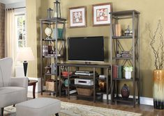 Popup Tv Stands - TV stands from a simple flat screen installation located on your floor to a corner unit with a shelf or two for an entertainment center Accent Furniture, Furniture Sets, Tv Holder, Entertainment Wall Units, Color Chrome, Modern Tv, Bed Frame, Contemporary Design, Media Towers