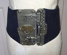 wide belt . vintage belt .  chastity belt . renfair belt . dominatrix belt by vintagous on Etsy