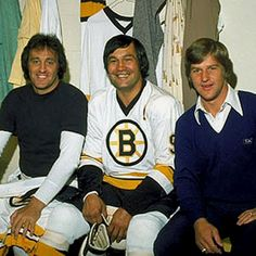 Phil Esposito, John Bucyk , and Bobby Orr. I Went to most games back then at Boston Garden! Ice Hockey Teams, Hockey Games, Hockey Players, Hockey Stuff, Rangers Hockey, Hockey Mom, Nhl, Phil Esposito, Boston Bruins Hockey