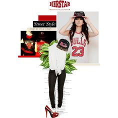 """Awesome Chicago Bulls Outfit by HERSTAR"" by missmelika on Polyvore"