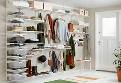We are Perth's leading Elfa stockist with over 15 years of experience. Elfa storage is the best way to organise and declutter your home. Elfa Shelving, Modular Shelving, Shelving Systems, Open Shelving, Clothes Rod, Clothes Drying Racks, Open Wardrobe, Hallway Designs, Declutter Your Home