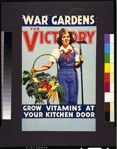 Propaganda Art for WWI and WWII: 18 Fantastic Victory Garden Posters ~ vintage everyday
