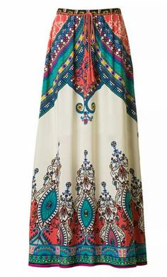 573ad82e15b406 Womens modest aline maxi skirt with baroque print and banded waist. Rayon -  Fashion up Trend. Guusje · Lange rokken