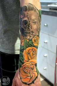 cool #skull ink #ink - http://www.freetattooideas.net/category/skull-tattoos/