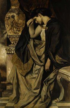saturnsdaughter:  Anselm Feuerbach, Medea, 1873