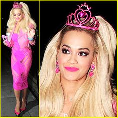 Rita Ora Looks Gets All Dolled Up as Barbie for Halloween
