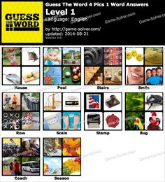 4 pics 1 words answers quiz games answers pinterest guess the word 4 pics 1 word level 1 expocarfo Image collections