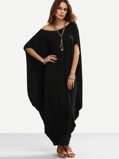online shopping for Verdusa Women's Boho One Off Shoulder Caftan Sleeve Harem Maxi Dress from top store. See new offer for Verdusa Women's Boho One Off Shoulder Caftan Sleeve Harem Maxi Dress Vestido Cocoon, Cocoon Dress, Plus Size Maxi Dresses, Women's Dresses, Casual Dresses, Fashion Dresses, Ladies Dresses, Summer Dresses, Women's Casual