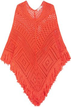 Bright-orange crocheted cotton Slips on 100% cotton Dry clean Designer color: Sunburst Orange Made in Italy
