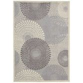 Nourison Graphic Illusions Grey Geometric Rug x - Overstock Shopping - Great Deals on Nourison - Rugs Home Living, My Living Room, Studio Living, Modern Rugs, All Modern, Modern Decor, Home Fashion, Main Image, Circle Rug