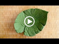How to ShapeCrete :: Concrete Decorative Leaf - YouTube