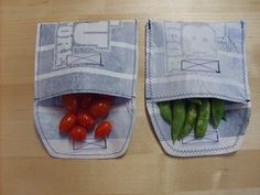 the red kitchen: How to Make Your Own Reusable Snack and Sandwich Bags from plastic grocery bags Plastic Bag Crafts, Recycled Plastic Bags, Plastic Recycling, Recycled Denim, Plastic Shopping Bags, Plastic Grocery Bags, Diy Crafts To Do, Upcycled Crafts, Repurposed