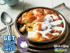What's better than a delicious winter baked pud with lashings of cream? #PnPStikeez