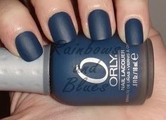 orly - blue suede. Digging this nail color and the matte finish. So getting this!