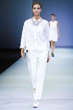 Giorgio Armani Ready To Wear Spring Summer 2015 work top <3 Milan
