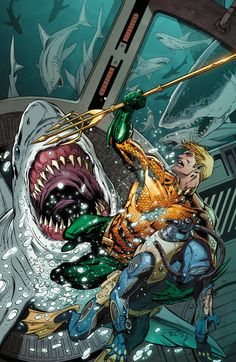 AQUAMAN #28   by PAUL PELLETIER and SEAN PARSONS
