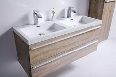 "48"" Sofia - Wheat - Double Sink Wall-Hung Bathroom Vanity"