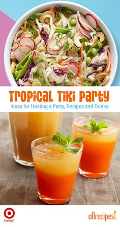 Tiki Cocktails Paired with the Perfect Island Bites. Brought to you by Target. #ad