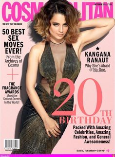Kangana is afraid of no-one, shows off her fierce side on Cosmopolitan's October issue!