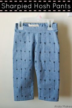 Sharpied Hosh Pants - love it - use fabric marker to make designs!!!  new jersey fabric!!