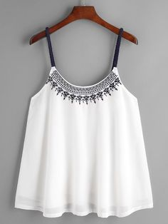 2017 New Design Women Casual sling Sleeveless Crop Top Vest Tank Shirt Blouse Cami Tops Chiffon Cami Tops, Sleeveless Crop Top, White Chiffon, Chiffon Shirt, Casual Outfits, Summer Outfits, Cute Outfits, Fashion Outfits, Women's Casual