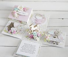 Białe Kruczki: Urodzinowy box dla Oli Exploding Boxes, Explosion Box, Diy And Crafts, Decorative Boxes, Gift Wrapping, Baby Shower, Paper, Handmade, Gifts