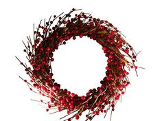 Fortune Share Large Red Berry Indoor & Outdoor Wreath - Home and Seasonal Decor- Great for all year round, Christmas and seasonal holidays (12.5 X 12.5) inches Fortune Share http://www.amazon.com/dp/B00O3923WC/ref=cm_sw_r_pi_dp_kz6Hub04GBEYK
