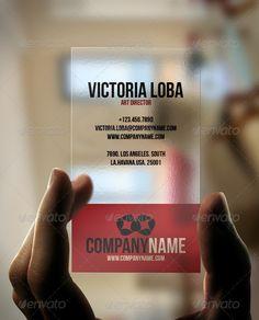 Fusion Transparent Business Card