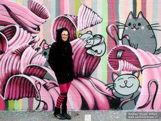 CatzApproved #graffiti  #streetart #gatti #gattini #cat #cats #pink