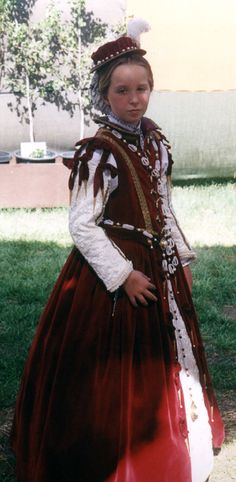 Child's Elizabethan Closed Bodice Gown