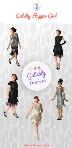 Gatsby Dresses Dresses for a Great Gatsby Party [ 2019 ] Gatsby Dress Plus Size, Great Gatsby Prom Dresses, Gatsby Dress Party, Gatsby Outfit, Gatsby Costume, Great Gatsby Themed Party, Gatsby Headpiece, Dresses Dresses, 1920 Gatsby