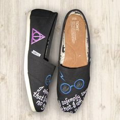 """Custom Painted """"Harry Potter"""" Toms Shoes. $95.00, via Etsy."""