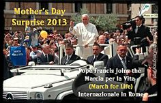 Leading by example on Mother's Day - profoundly perfect!  http://www.lifesitenews.com/news/pope-surprises-40000-italian-pro-lifers-joins-rome-march-for-life