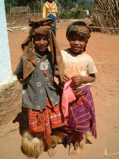 East Timorese children in traditional clothes