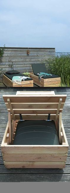 #woodworkingplans #woodworking #woodworkingprojects Daybed Lounger | DIY Outdoor Pallet Furniture Projects