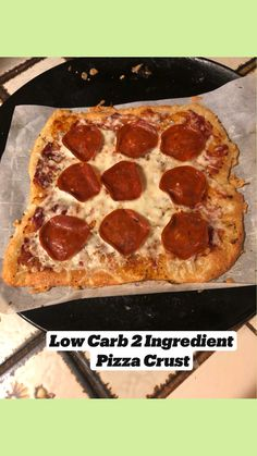 Diet Pizza, Low Carb Pizza, Low Carb Keto, Healthy Pizza Recipes, Low Carb Recipes, Cooking Recipes, Keto Pizza Crust Recipe, Clean Eating Pizza, Tortilla Pizza
