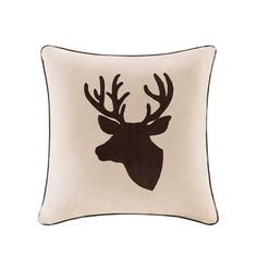 The Madison Park Deer Square Throw Pillow features deer embroidery on luxurious suede that will add a strong and natural look to your space. This design is embellished with applique and embroidery details and is finished with brown piping. Pillows Online, Mens Gift Sets, Baby Clothes Shops, Decorative Throw Pillows, Park, Home Decor, Holiday, Christmas, Products