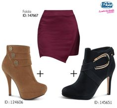 Una falda, dos zapatos. Elije la pareja perfecta.  #PriceShoes #outfit #fresh #style #girl #sweet #fashion #Outfit #look #itgirl #fashionable #shoes #bag #pump #Denim