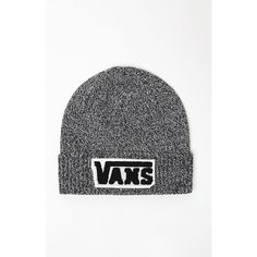 Vans Chenille Patch Beanie (220 SEK) ❤ liked on Polyvore featuring accessories, hats, vans hat, vans beanie, patch hat and beanie hats