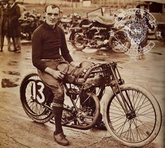 Dougal Marchant on his 350cc Chater Lea at Brooklands in 1923.
